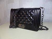 Модная женская средняя сумка черная chanel