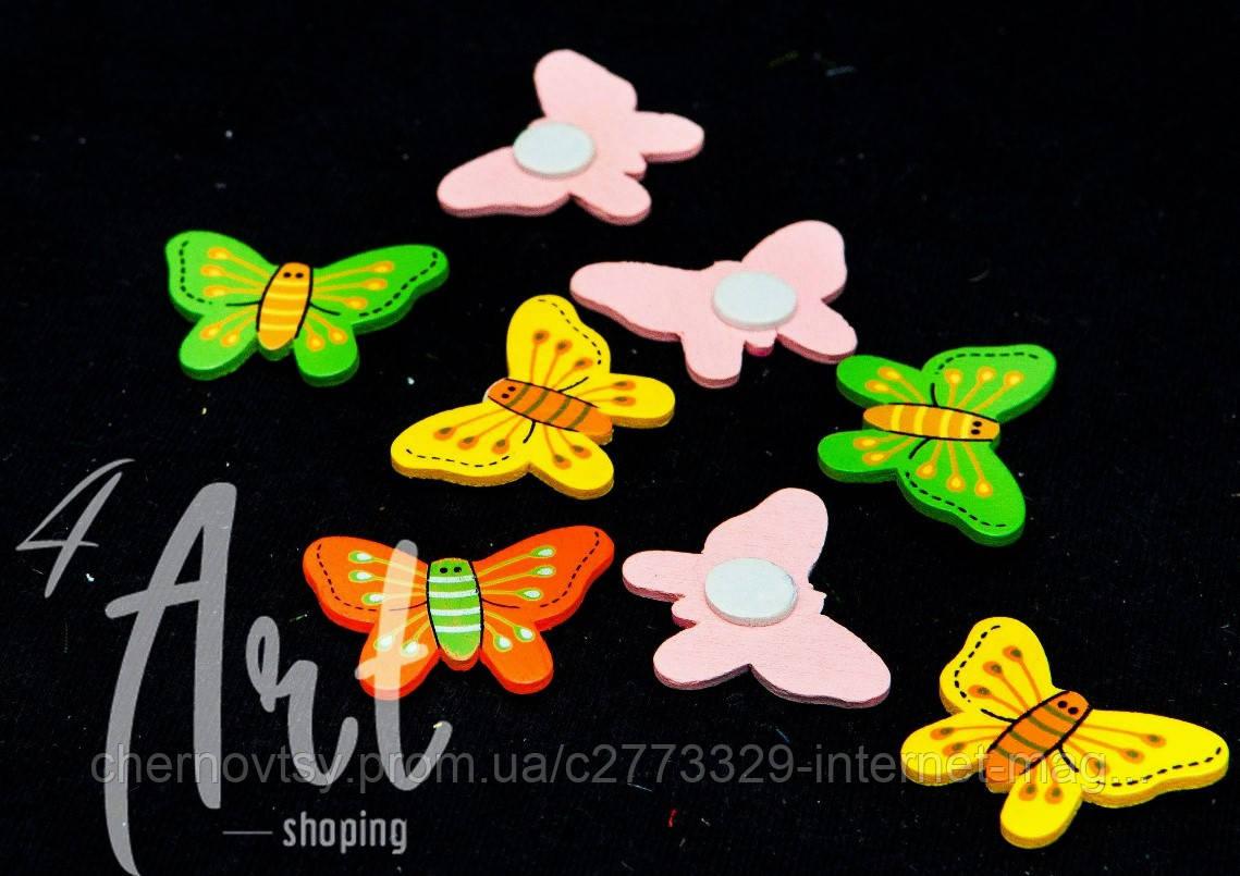 Бабочки на липучке уп. 12 шт. Микс