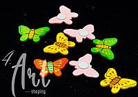 Бабочки на липучке (уп. 12 шт) микс