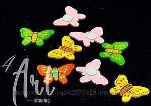 Метелики на липучці уп. 12 шт. Мікс