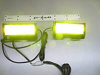 Стробоскоп светодиодный,  в решетку, жёлтый Led 10 комлект, фото 1