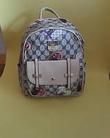 Стильный бежевый рюкзак с карманом Dolce Gabbana тренд 2017 года