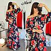 Женское шелковое платье в расцветках. К-105-0617, фото 3