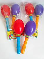 Маракасы, звонкие погремушки для малышей (набор 2 шт.)