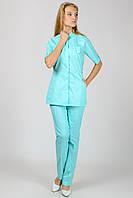 Женский медицинский костюм Рубина (мятный), фото 1