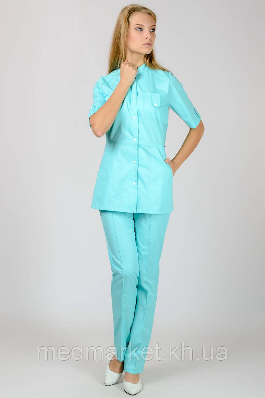 Женский медицинский костюм Рубина (мятный)