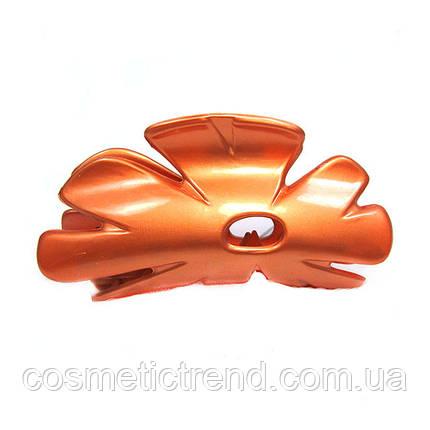 Заколка-краб кораловий Квітка 128010 (Франція), фото 2