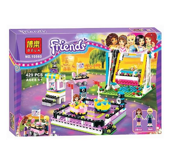 Конструктор Bela 10560 Подружки. Парк развлечений: Автодром (аналог Lego Friends 41133)
