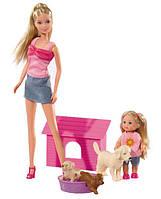 Куклы Штеффи и Эви с собаками, Steffi & Evi Love
