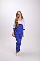 Женский медицинский костюм Роуз(синий)