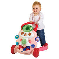 Chicco Ходунки детские Baby steps activity walker pink