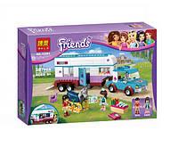 Конструктор Bela 10561 серия Friends / Подружки Трейлер для лошадей (аналог Lego Friends 41125)