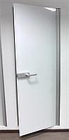 Стеклянные двери в алюминиевой коробке с широкой петлей