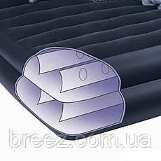 Надувная флокированная кровать Intex 66706 с подголовником, черная, со встроенным насосом 220V, 191, фото 2