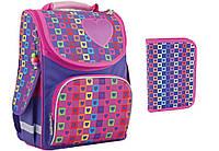 """Комплект. Рюкзак школьный каркасный Rainbow 553324 + пенал, ТМ """"Smart"""""""