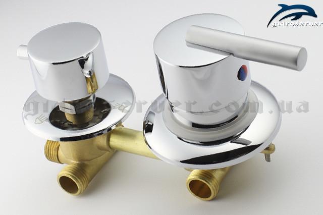 Вид сбоку смесителя для душевой кабины, гидромассажного бокса G3 ― 100 мм.