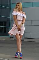 Платье женское модное с гипюром и поясом арт.160, фото 1