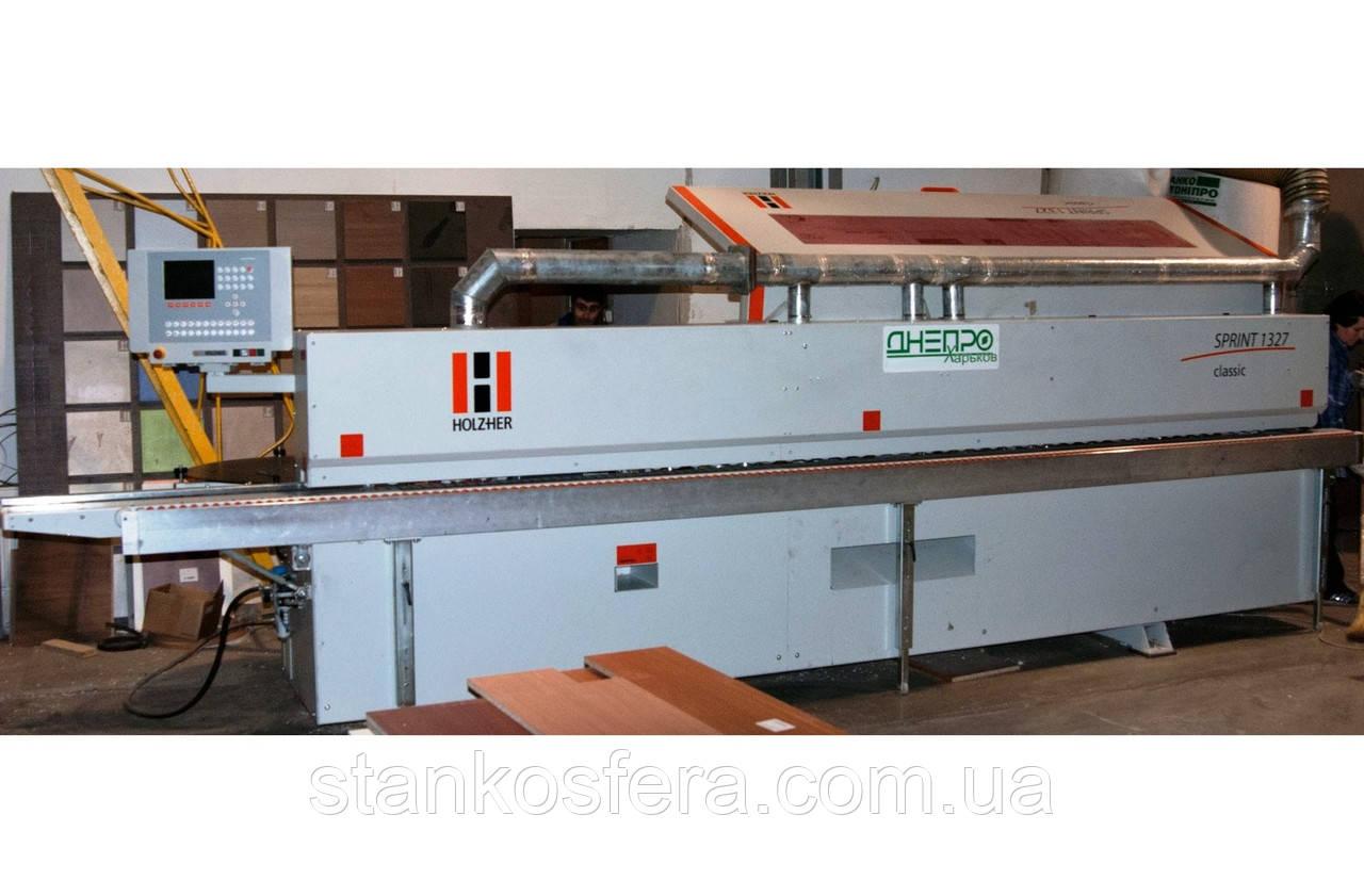 Кромкооблицовочный станок HolzHer Sprint 1327 б/у проходной 2012 года выпуска