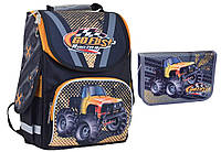 """Комплект. Рюкзак школьный каркасный Go fast 553434 PG-11 + пенал, ТМ """"Smart"""""""