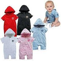 Детская одежда песочник красный для девочки адидас недорого