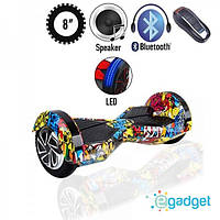 "Гироборд 8"" BT SD  графити (АКБ Samsung) гироскутер + сумка"