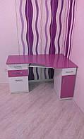 Компьютерный стол (розовый)