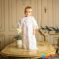 Рубашка крестильная для девочки Mimino Софья, цвет молочный