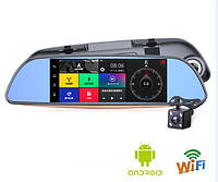 "Зеркало регистратор D35 - 3G 7"" 2 камеры GPS WiFI 16Gb Android 5.0"