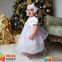 Платье для крещения Mimino Ника, цвет белый