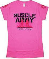Футболка Scitec Nutrition Muscle Army Girl (pink S)