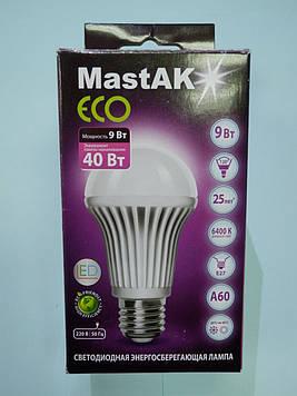 Светодиодная лампа Mastak MUS04DE ( 9W LED A60 230V 6400K E27 )
