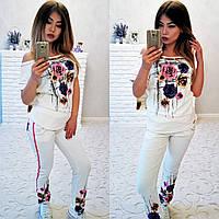 """Стильный женский костюм с штанишками с мотнёй 4134 """"Авангард"""" в расцветках, фото 1"""