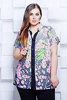 Donna-M Блуза рубашечного кроя ЭММА синяя