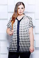Блуза рубашечного кроя ЭММА белая