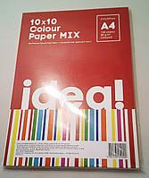"Бумага ""IDEA!"" А4 80г/м 10х10/100арк. Colour MIX"