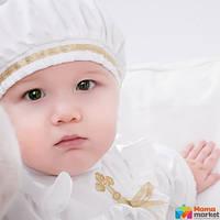 Берет для крещения Mimino Славянский, цвет белый-золото