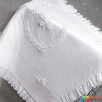 Крыжма утепленная для крещения Mimino Винтажная, цвет белый