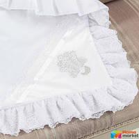 Крыжма утепленная для крещения Mimino Семейные ценности, цвет белый