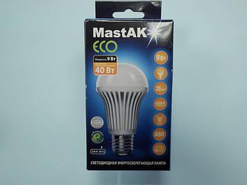 Светодиодная лампа Mastak MUS04CE ( 9W LED A60 230V 4200K E27 )
