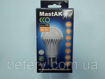 Світлодіодна лампа Mastak MUS04CE ( 9W LED A60 230V 4200K E27 )