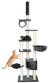 """Игровой комплекс с когтеточкой """"МАДРИД"""" для кошек и котят, 245/270см, серый."""