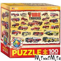 Пазл Eurographics История пожарных машин, 100 элементов