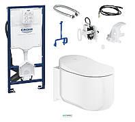 Комплект Grohe: подвесной унитаз-биде Sensia Arena + система инсталляции Rapid SL 393944LS
