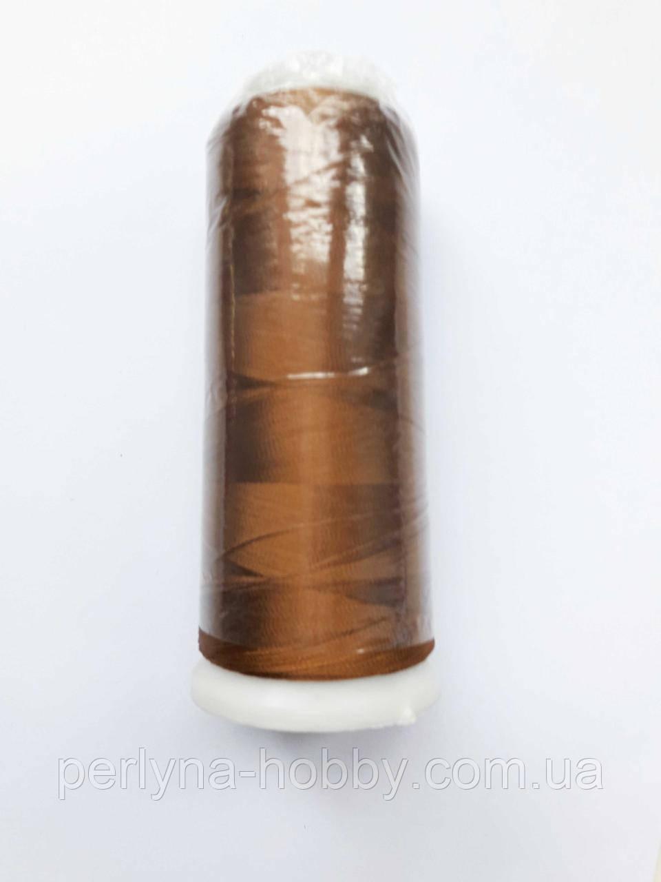 Нитки для машинной вышивки 100% вискоза (100% rayon) 3000 ярд, № 423, світло-коричнева з золотистим відтінком