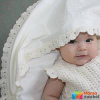 Крыжма для крещения Mimino Мерино, цвет молочный