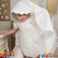 Крыжма для крещения Mimino Вероника, цвет молочный