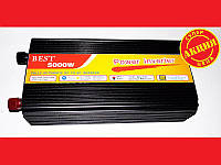 Практичный преобразователь инвертор Best 12v-220v 5000W. Хорошее качество. Удобный. Купить. Код: КДН1852