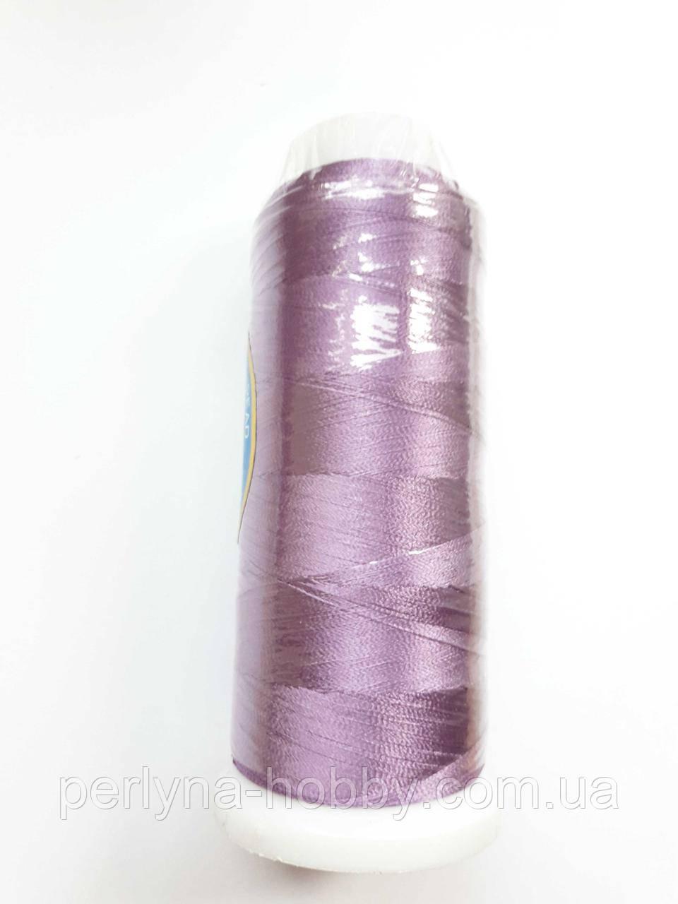 Нитки для машинної вишивки 100% віскоза (100% rayon) 3000 ярдів, №486, бузковий