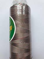 Нитки для машинної вишики меланж 100% віскоза (100% rayon) 3000 ярдів, № 040, зелена-біла-червона