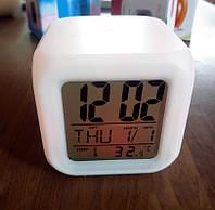 Часы-будильник хамелион куб, фото 1